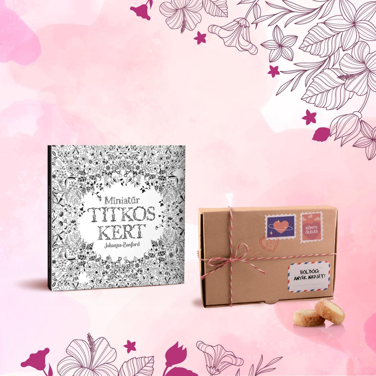 - Könyvölelés Anyák napjára - Miniatűr titkos kert + Les Cadeaux de Flore keksz